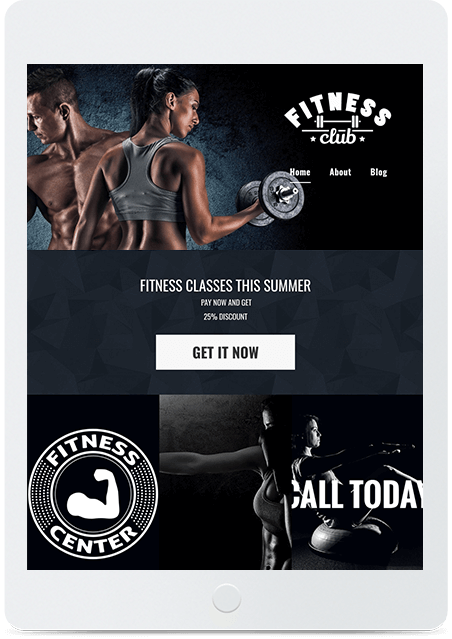 Website builder Fitness Club responsive template