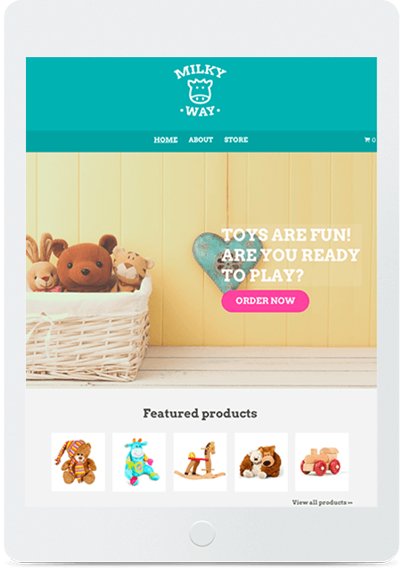 Website builder Toy Store responsive template
