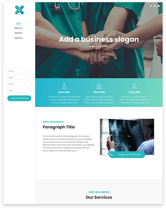 Website builder General Clinic responsive template